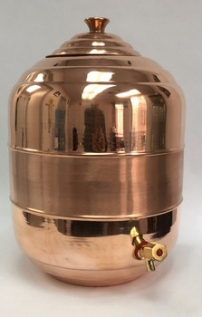 Pure Copper Water Tank Dispenser Pot With Tap Capacity