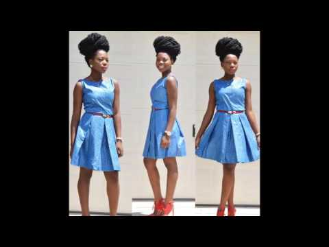 Modern Beautiful Blue colour short African trendy dresses | african trendy mini dresses