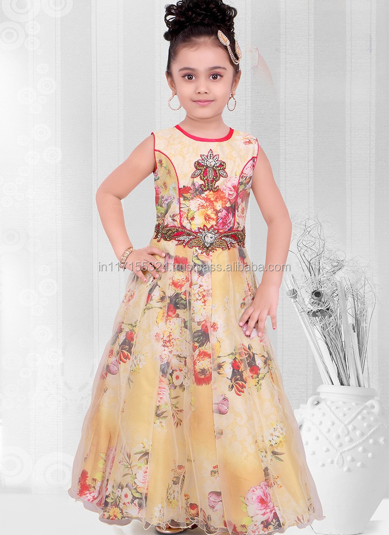 Latest Kids Wear Sleeveless 2016 Anarkali Frocks New