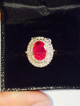 RUBY RING WITH GOLD AND DIAMOND