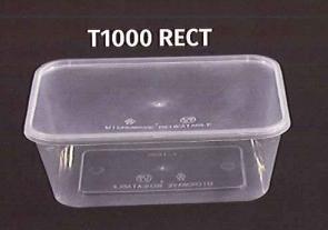 Pp Plastic Rectangular Container T1000