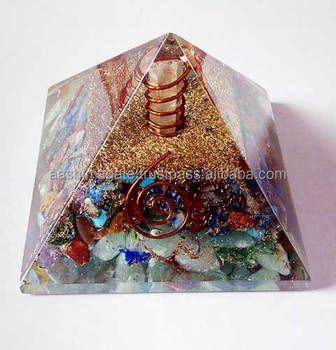 Mix Gemstone Orgone Pyramid With Charge Crystal Point Copper Coil Healing  Orgone Pyramids - Buy Gemstone Chakra Pyramids,Orgone Pyramid,Copper