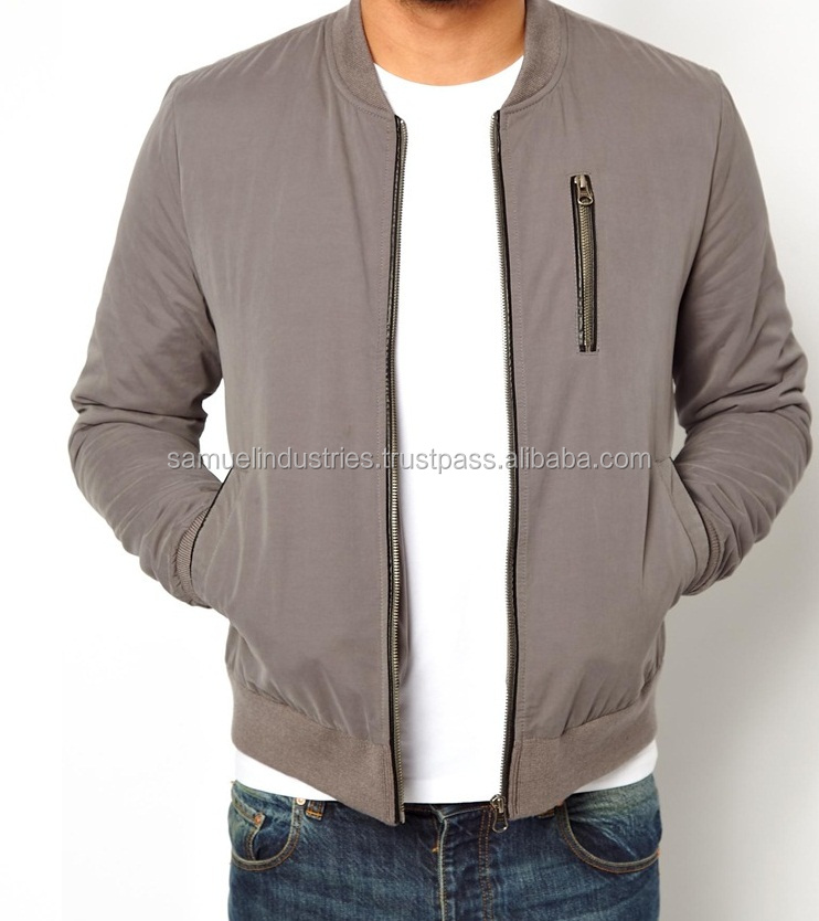 Oem Winter Ma-1 Satin Ski Military Woman Bomber JacketEuropean warm men bomber jacketNYLON FLEECE LINED GREY BOMBER JACKET