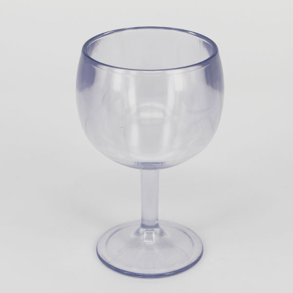 Bottom price best selling small plastic goblet short stem wine glasses unbreakable plastic wine - Square bottom wine glasses ...