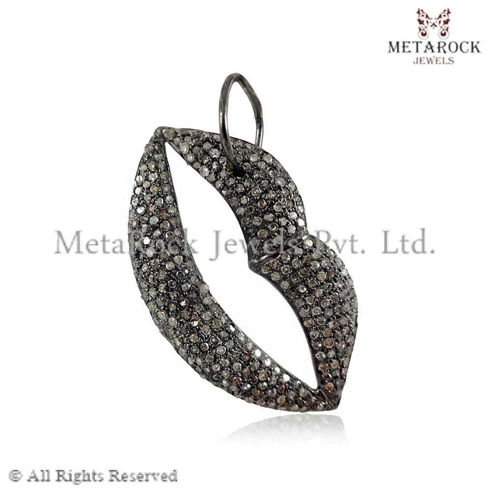 Popular Micro Pave Diamond Charm Pendant, Supplier Handmade Diamond  BJ84