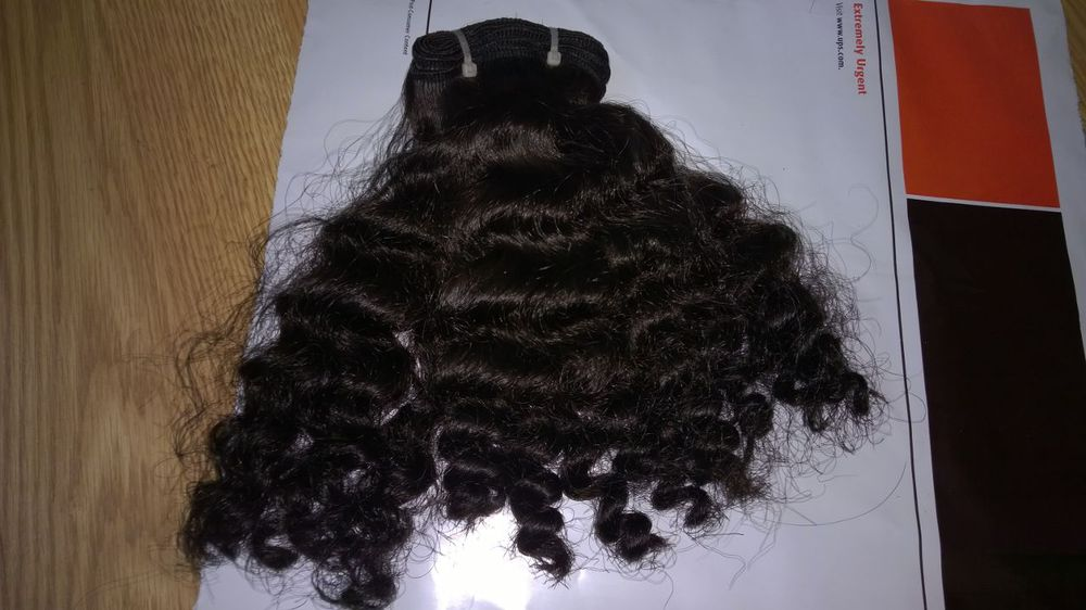 Wholesale beauty hair machine weft double drawn wavy Unprocessed virgin hair