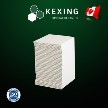 Compound of Cordierite and Mullite Monolith Honeycomb ceramic Heat sink media for RTO RCO