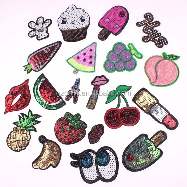 Embroidery Donuts Fruit Sew Iron On Patch Badge Bag Clothes Fabric Applique