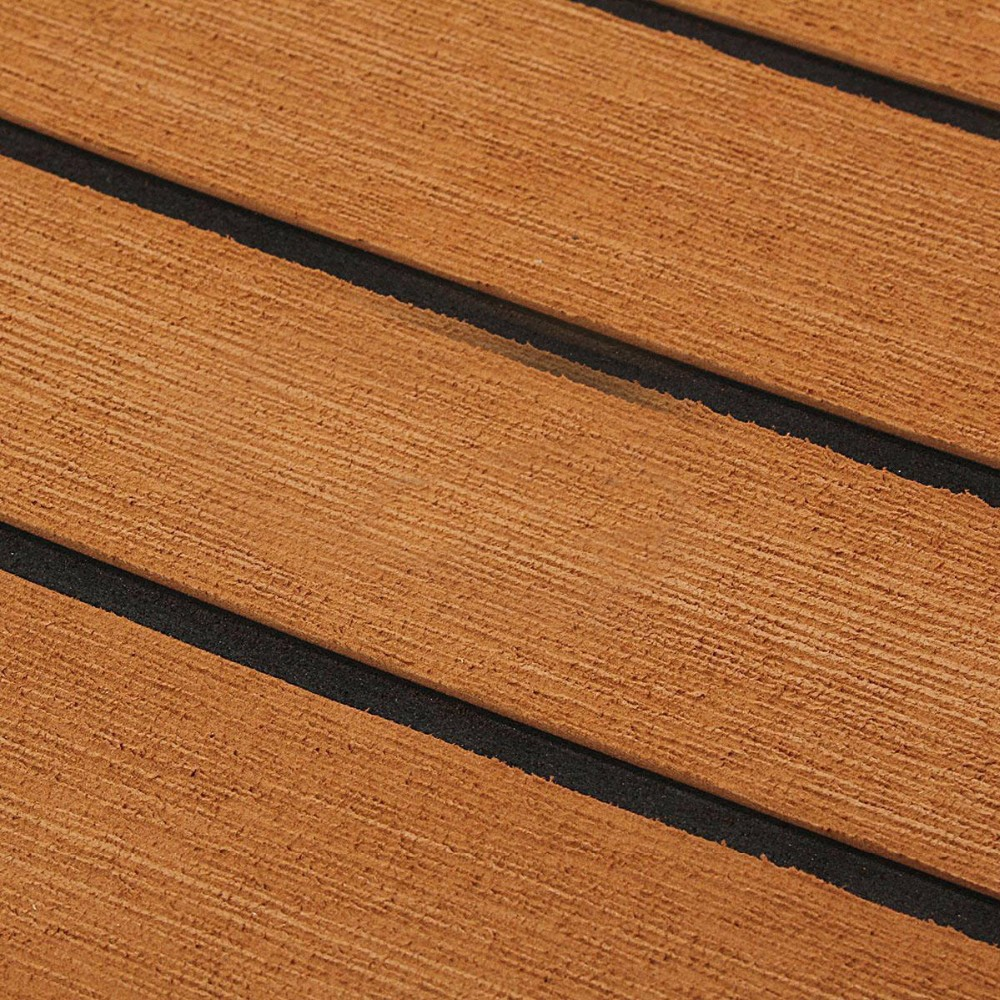 Competitive price eva faux teak boat decking synthetic for Synthetic deck material