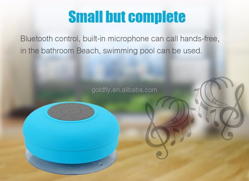 Portable Subwoofer Shower Waterproof Wireless Bluetooth Speaker Car Handsfree Receive Call Music Suction Mic For iPhone Samsung