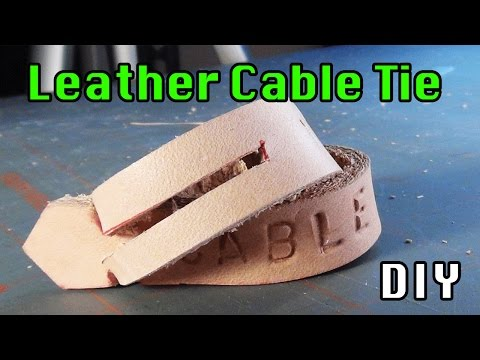 DIY2: Scrap Leather Cable Tie