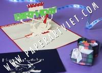 3D Frog birthday card/ handmade greeting card