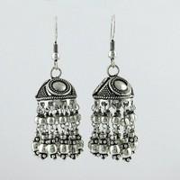 Beautiful Bali Oxidized Jhumka 925 Sterling Silver Earring, Oxidized Silver Jewelry, Online Silver Jewelry