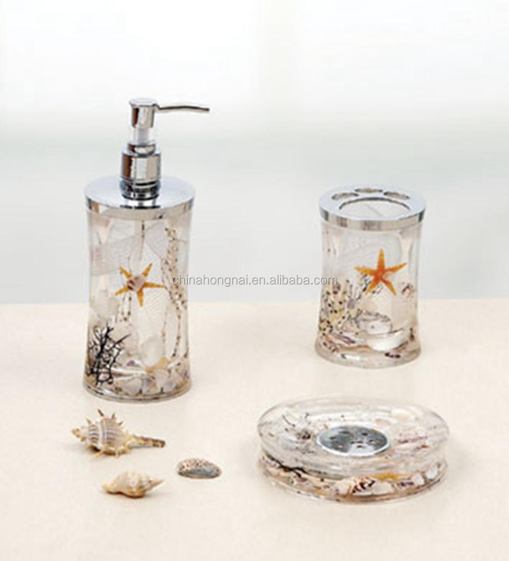 Accessoires Salle De Bain Bathroom ~ coquillage s rie d huile flottant acrylique salle de bains