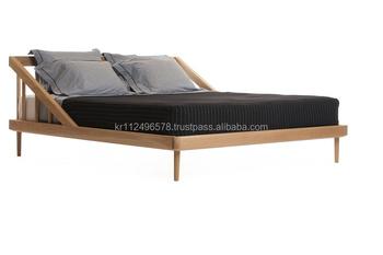 Scandinavische en hedendaagse moderne eiken houten bed buy