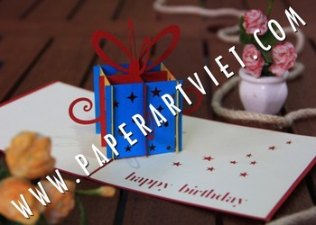 3d greeting card with gift box kirigami card buy 3d pop up card 3d greeting card with gift box kirigami card m4hsunfo