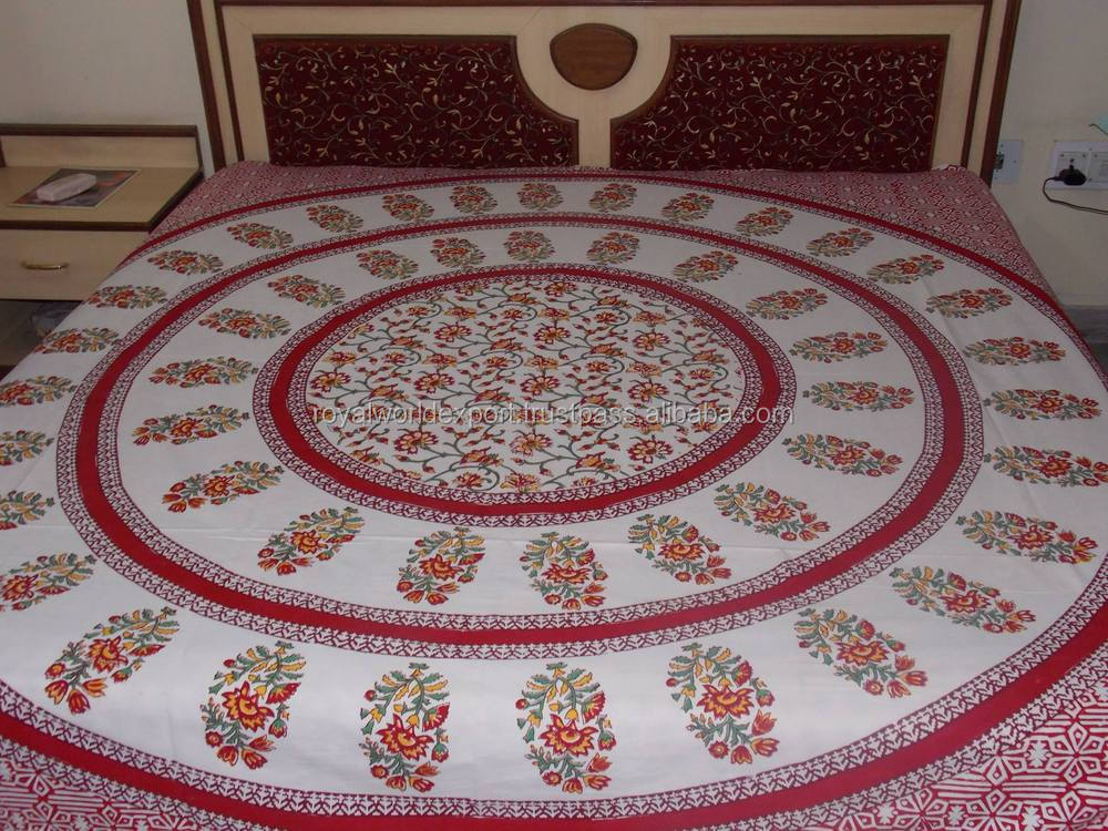 traditional hand block printed bed sheet cheap bed sheet