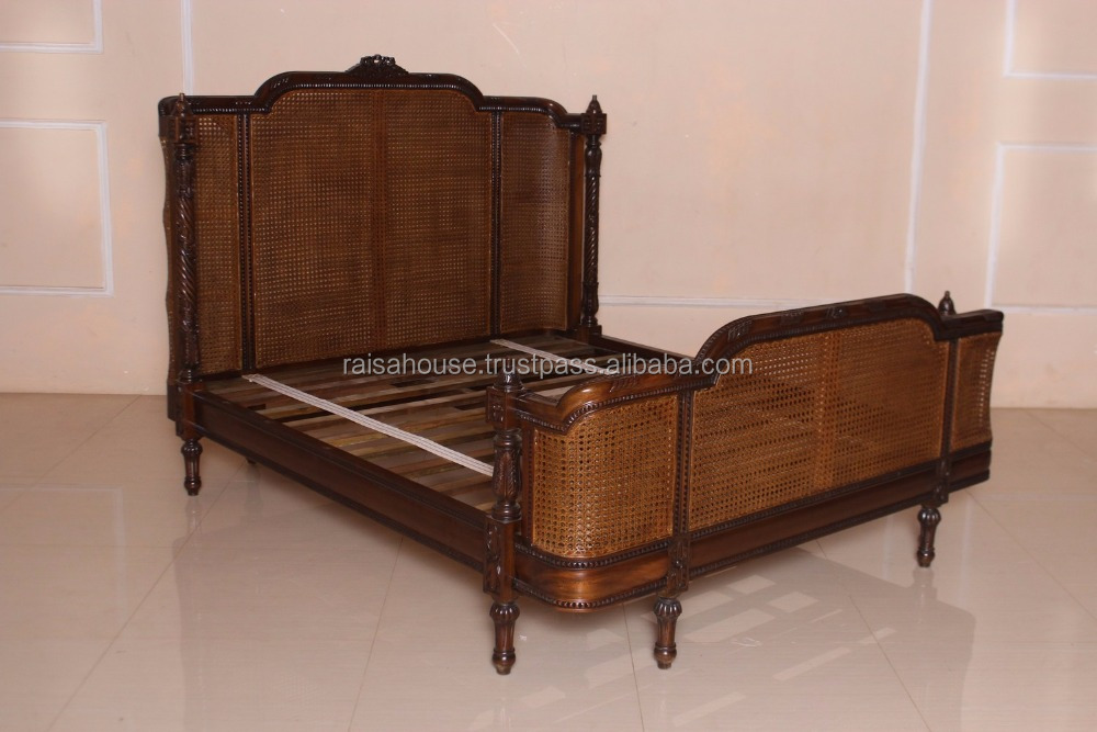 Antique Furniture-rbd 083 Q Bed Rattan Furniture-antique ...