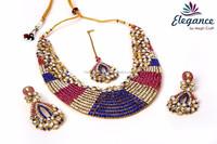 Designer Indian ethnic jewelry set 2015-Wholesale Imitation jewellery-Artificial Jewelry-bridal rhinestone jewelry