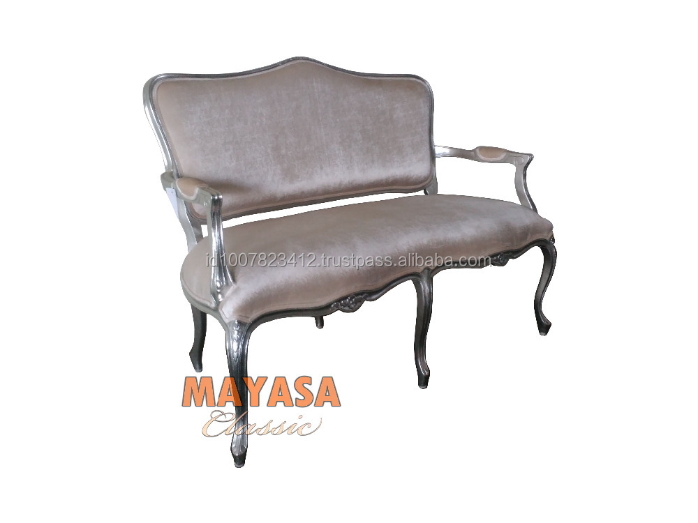 Silver Classic Sofa 3 seater Living Room