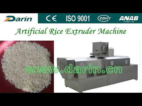 Artificial Rice/Synthetic Rice/Man-made Rice Production Line/Extruder Machine