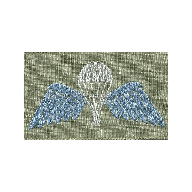 WOVEN BADGES Australian Army Parachute Wings (Summer Uniforms) On Stone Rectangle Woven Parachute jump wings or badge