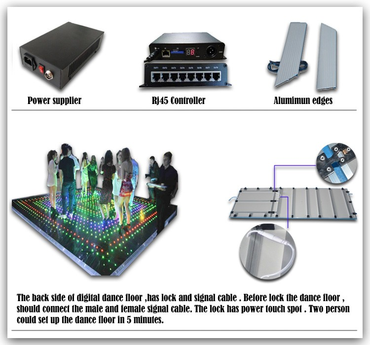 Wholesale China supplier disco stage dance flooring LED lights ...