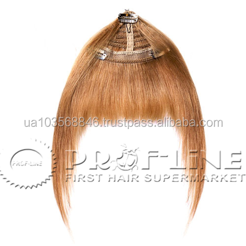 Clip-on human hair bang human hair bangs blonde clip hair bangs