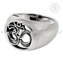 Prominent Plain Silver OM Ring 925 Sterling Silver Handmade Jewelry Wholesaler Indian Silver Jewelry Exporters