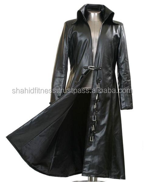 Men Black Leather Coats,Men Leather Long Coats,Leather Long Coats ...