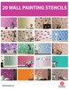20 Design Wall Painting Stencils
