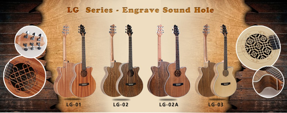 lg 10 40 inch custom folk guitar cutaway carving sound hole new design made in china buy. Black Bedroom Furniture Sets. Home Design Ideas