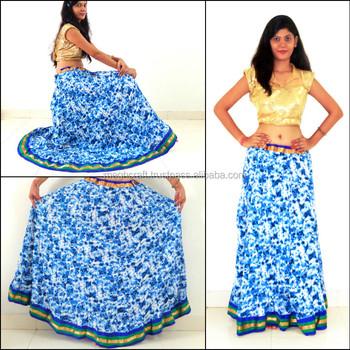 afa87ebbe3f Belly dance skirt-indian cotton printed skirt-Block printed skirt-Dance  costume-