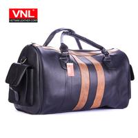 Men's Fashionable Black Premium Leather Travel Bag TXDL1A2L4D
