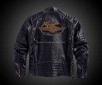 Custom Fashion Leather Patchwork high quality leather/Pakistan leather jacket