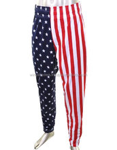 Men's American Flag USA Workout Pants Sublimation Trousers