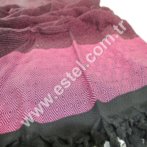 Latest New Black Diamond 100 % Cotton Throw Blanket Black & Pink Color Direct from Producer