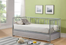 Kings Brand Silver Finish Metal Astoria Day Bed (Daybed) Frame/Decorative King Size Stylist Home Decor metal bed