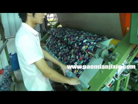 foam laminating machine video to show you how to laminate foam sheet with fabric or textile material
