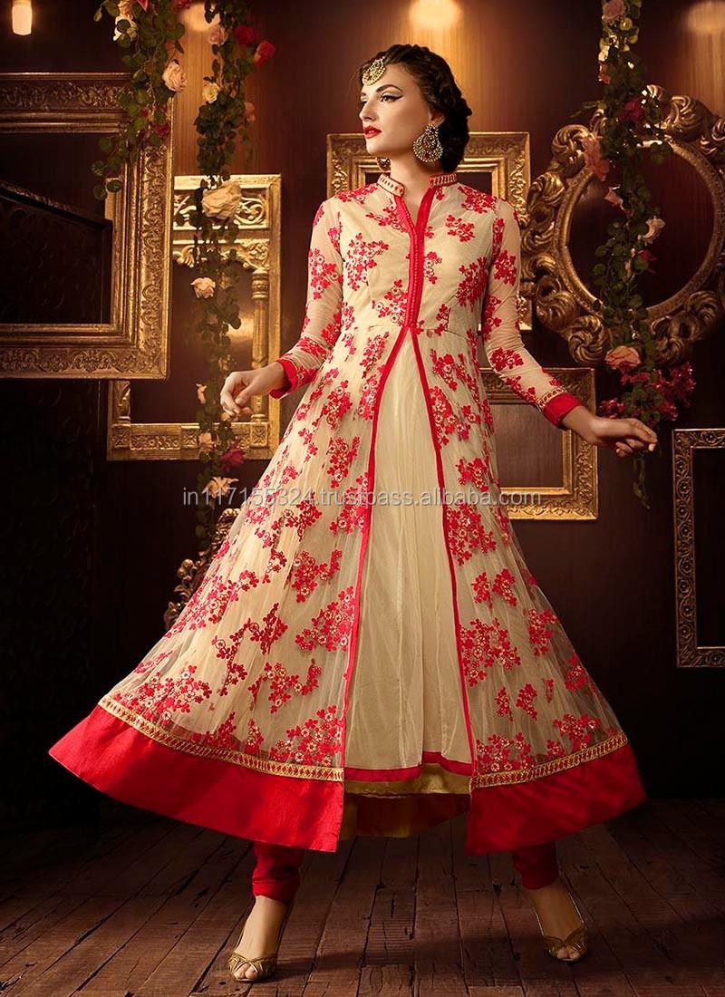 ccd173138 Pakistani new style dresses - Low price salwar kameez - Net embroidery work  reception wear anarkali suits