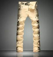 Custom Pewter Leather Jogger Pants, Vintage snake Leather Pants