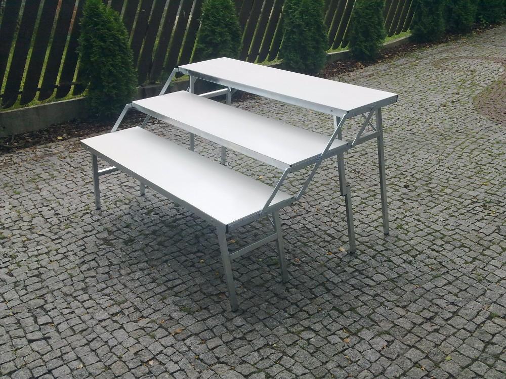 Trois stade table table pliante pour l 39 exposition en acier - Table pliante pour exposition ...