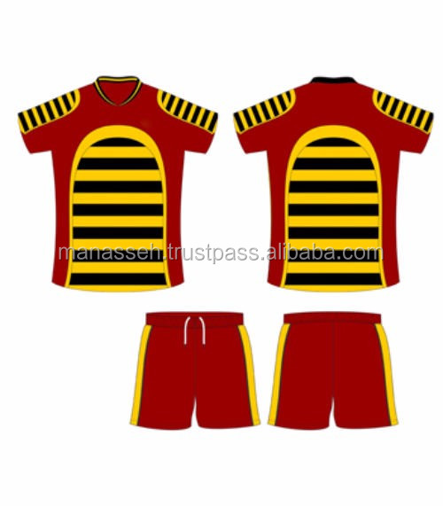 custom rugby shorts & rugby jersey 100 percent polyester