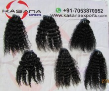 Best Quality Indian Tight Curly Temple Hair Weft,Full Cuticle,3A Raw Virgin Indian Hair Products Deep Curly