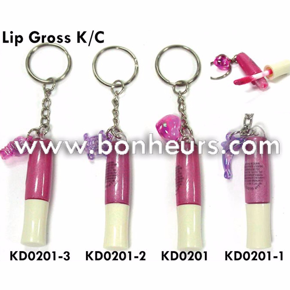 New Novelty Toy Slime Jelly Makeup Cosmetic Jelly Dolphin Lipstick Keychain