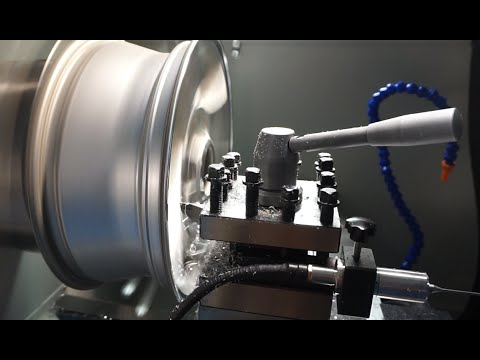 Diamond cut alloy wheel rim repair lathe machine