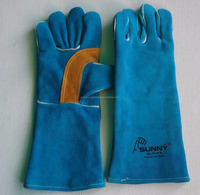 High Quality Leather Safety Welders Gloves / Welding Gloves with out lining