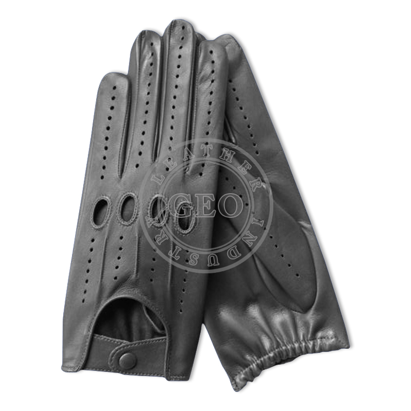 NEW black leather car driver driving gloves