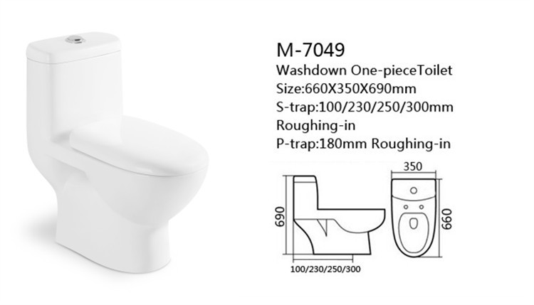 One piecee washdown ceramic composting toilet