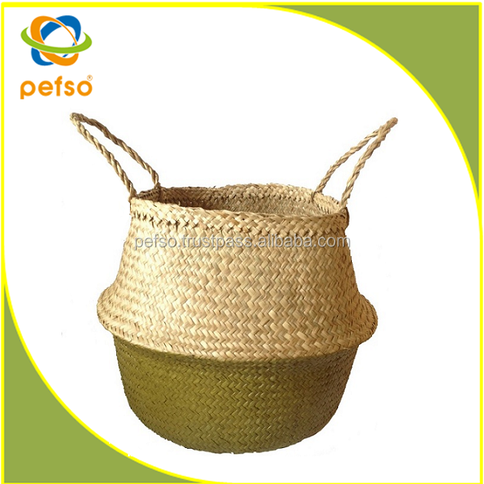 Wholesale Foldable Seagrass Basket Seagrass Belly Basket